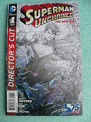 1st PRINT SUPERMAN UNCHAINED # 1 DIRECTOR'S CUT VARIANT JIM LEE SKETCHES + MORE