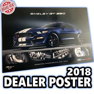 2018 Ford Mustang Shelby Gt350 Ford Performance 24 X 36 Dealer Poster