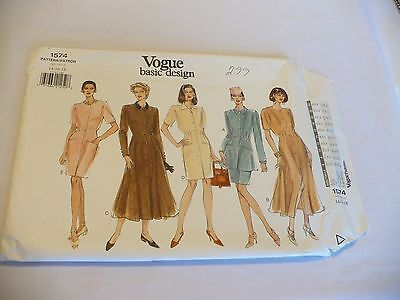 Vogue #1574 Misses' Dress, Tunic and Skirt Pattern Size 14-18 Basic Design