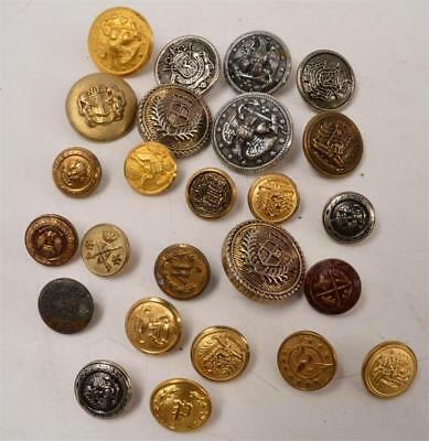 Lot of 25 Vintage Metal Buttons - Military, Dress - #R-2-3-7-Lot 1