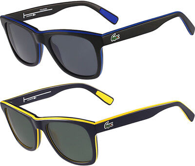 Lacoste Polarized Stripes and Piping Men's Square Sunglasses - L781SP