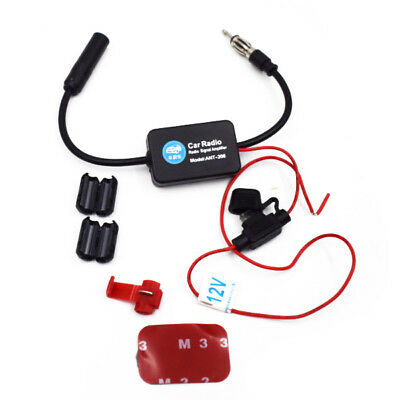 Car Truck Stereo Antenna FM AM Radio Inline Signal AMP Amplifier Booster Fangle