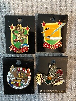 Looney Tunes Lapel Pin Olympic Series Bugs Bunny, Wile E Coyote, Road Runner