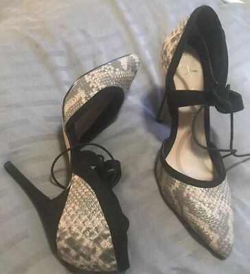 f7f1be5ada0c Primark Atmosphere Snake Print Stiletto Lace Up Black 7 NEW High Heel 2019  Trend