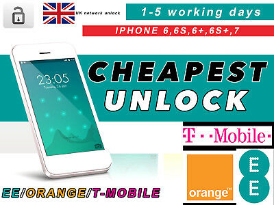 Unlock  Service For Ee Orange T-Mobile Uk For All Iphone 6 6S 6+ 6S+ 7 7+