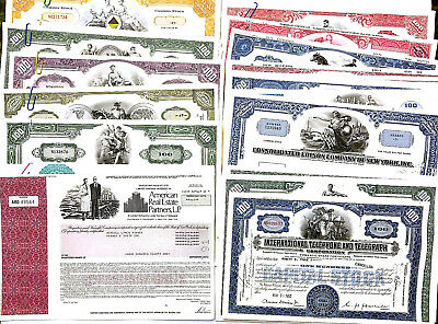 100 pcs Collection of Different Rare Stock Certificates NO LONGER PRINTED!