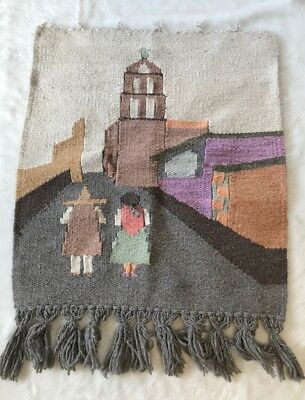 Latin American Wool Hand Woven Wall Weaving Tapestry Hanging
