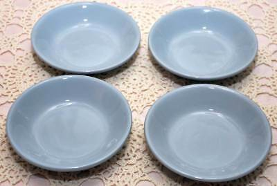 FOUR 1950s Sterling Caribe China BLUE Hotelware Dessert Fruit Bowls Puerto Rico