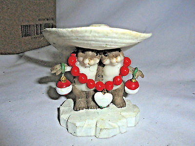 """Charming  Mice Figurine """"i Love Your Style"""" # 4023662 Enesca 2011"""