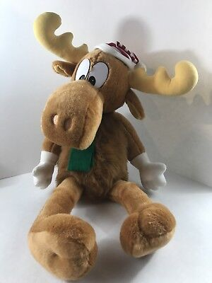 "Rocky & Bullwinkle Big 22"" Moose Plush Toy Doll 1996 Macys"