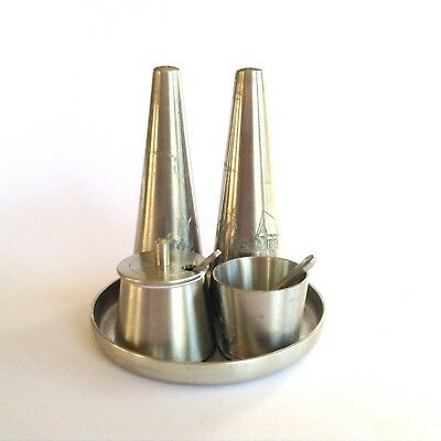 Royal Selangel Vintage Pewter Condiment Cruet Set Sea Salt Pepper Shakers