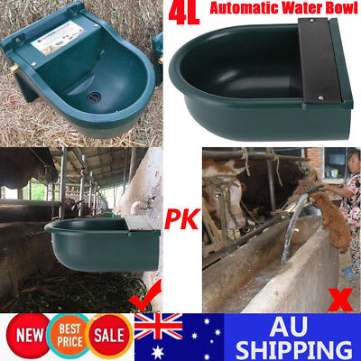 AU 2X Automatic Float Valve 4L Water Trough Bowl Cattle Chicken Horse Sheep Dog