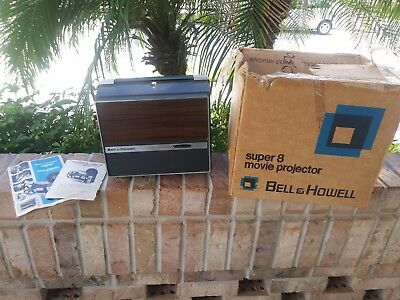 Vintage Bell & Howell Autoload Movie Projector 456 Compact. 8mm / Super 8 in BOX