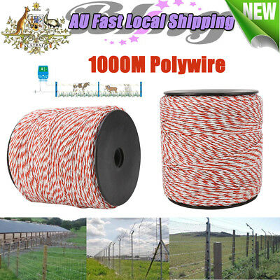 1000m Stainless Steel Roll Polywire Electric Fence Fencing Poly Wire AU STOCK