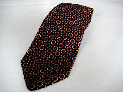 Lot:B4 - BRIONI Men's 100% Silk Necktie ITALY Black / Red - NEW