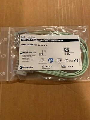 GE 2052133-005 Single Patient Use ECG Lead Wire 3 Lead 100cm/39in. NEW