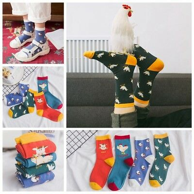 Unisex Cartoon Animal Cotton Socks Funny Art Painting Stocking Soft Hosiery