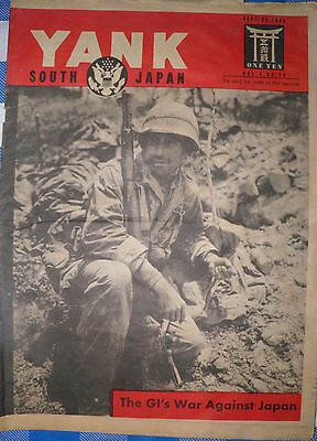RARE Yank Army Weekly Military Magazine Sept. 1945 WWII GIs Japan Priced 2 Sell