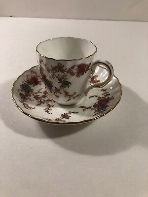 Minton China England - Ancestral S-376 Demitasse Cup & Saucer