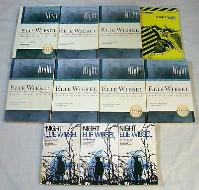 Guided Reading Lot 10 NIGHT by Elie Wiesel - Teacher Class Set Literature Circle