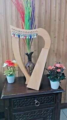 new 15 String Lever Harp Celtic Harp Baby Harp With Deluxe Bag and Tunning Key