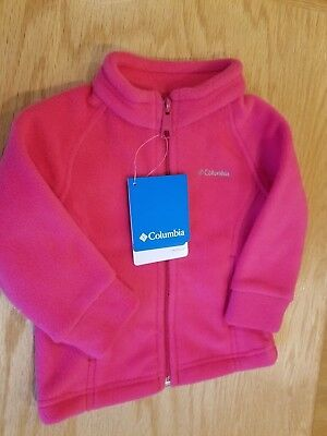 Columbia  fleece jacket, infant bright rose pink, multiple infant/toddler sz NWT