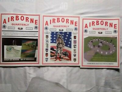 2011 Airborne Quarterly magazine lot of 3 issues Winter Summer Fall