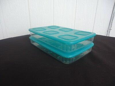 2 tupperware clearmates clear mates green rectangle containers 685ml fridge meat
