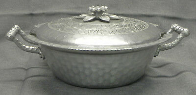 Vintage Everlast Round Aluminum Serving Dish + Lid + Pyrex Glass Insert, Exc.