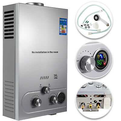 16L Tankless Hot Water Heater Natural Gas 4.3GPM Instant On-Demand Boiler