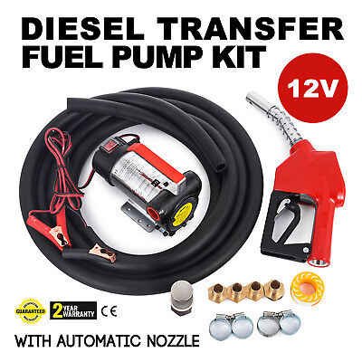 AC 12V Metering Diesel Transfer Fuel Pump Kit Wall Mounted Portable Casings