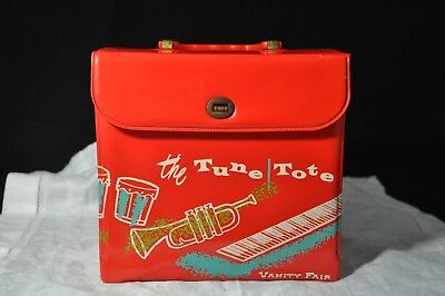 Vintage 45 Record Case / Holder The Tune Tote Vanity Fair