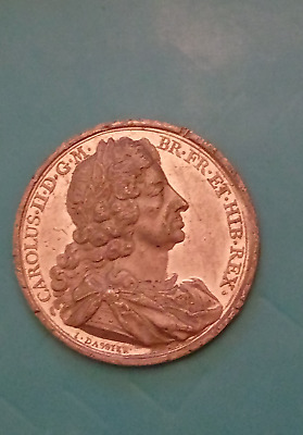Dassier / Thomason  1665  King Charles  Large Heavy Medal ~ ~ Lead Trial ??