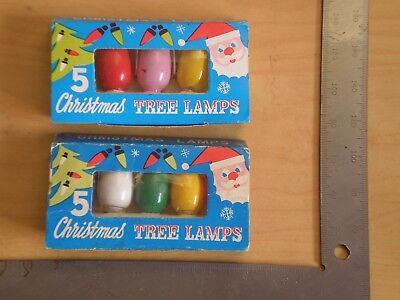 Vintage Christmas Tree Lamps X 10 Tested Working Japan