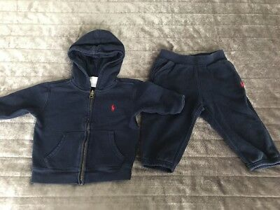 Ralph Lauren Baby Boy Clothes 9- 12 Months 1 x Matching Tracksuit Used