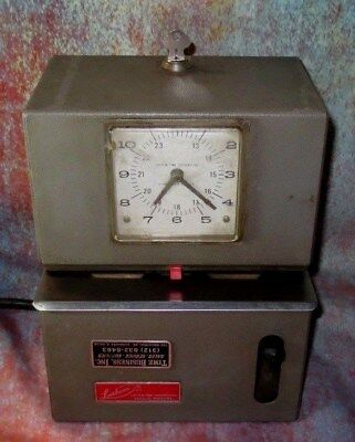 Lathem Mechanical Time Clock - Heavy Duty, High Volume 2121, With KEY Works Well