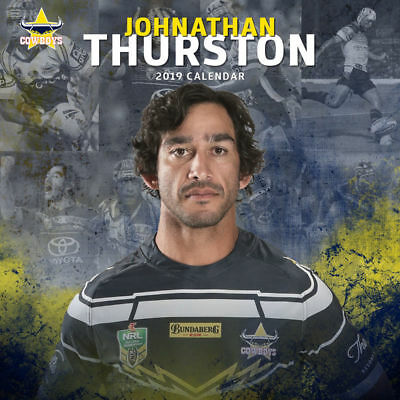NRL Johnathan Thurston JT Cowboys Official 2019 Wall Calendar by Paper Pocket