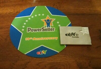 Ebay logo mouse pad and business card holder