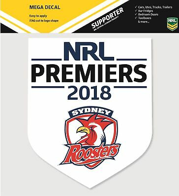 Sydney Roosters NRL 2018 Premiers Premiership Supersized Mega Logo Sticker