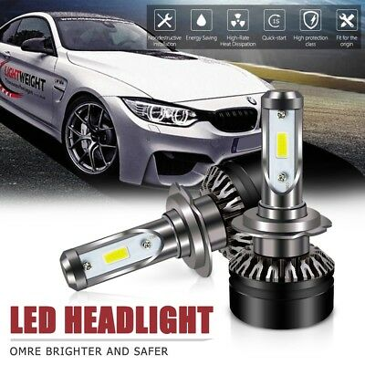 Pair H7 Led Headlight 6000LM 6500K DOT All-in-One Conversion Kit For Hyundai
