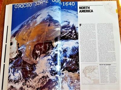 Atlas of North America Space Age Portrait of a Continent  1985