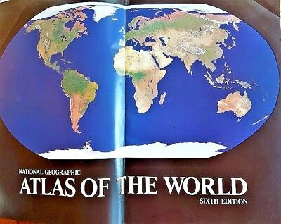 Atlas of the World National Geographic Sixth Edition Vintage 1990