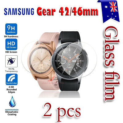 2x Samsung Galaxy Gear Watch 42mm 46mm S2 S3 Tempered Glass Screen Protector