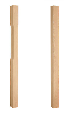 Stair Newel Posts 70mm - Square, Stop Chamfered Full/Half-Oak,Pine,Hemlock