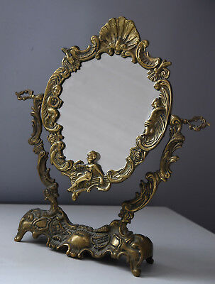 ⭐ Art deco, French stand mirror ,bronze frame, Style Louis XV⭐