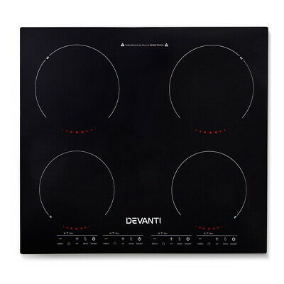 5 Star Chef Ceramic Electric Induction Cook Top Stove- Black