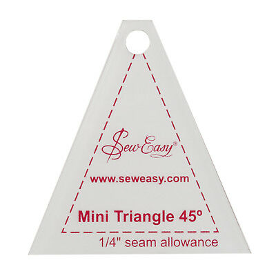 "SEW EASY MINI 45 DEGREE TRIANGLE TEMPLATE – 6cm x 6.5 cm / 2.4""x 2.6"" PATCHWORK"