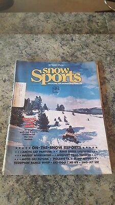 Snow Sports snowmobile magazine Sep 1975 16 pages buyer guide Ski-Doo Arctic cat