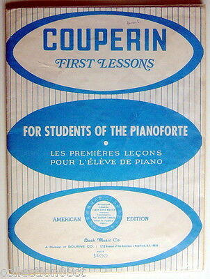 1940's Couperin First Lessons For Students Of The Pianoforte, English And French