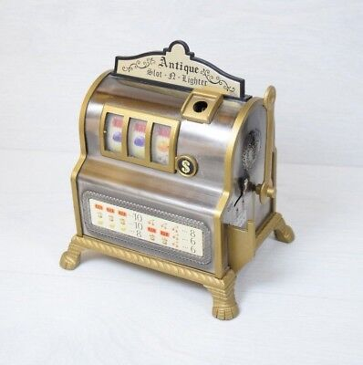 Vintage Retro Novelty Slot Machine Pokie Table Top Cigarette Lighter WACO Japan